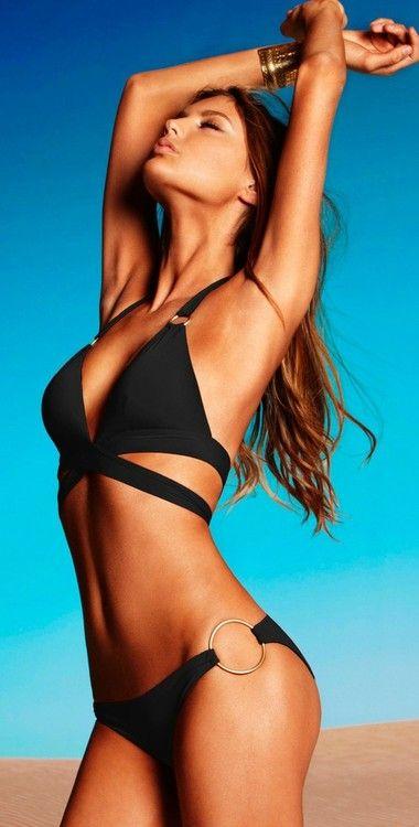 Vitamin A Gold 2012 Eco Black Siren Wrap Bikini