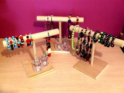 Bead Up -- the journey of handmade jewelry: Do It Yourself: Jewelry Displays That Make Oriental Trading Company Look Expensive!