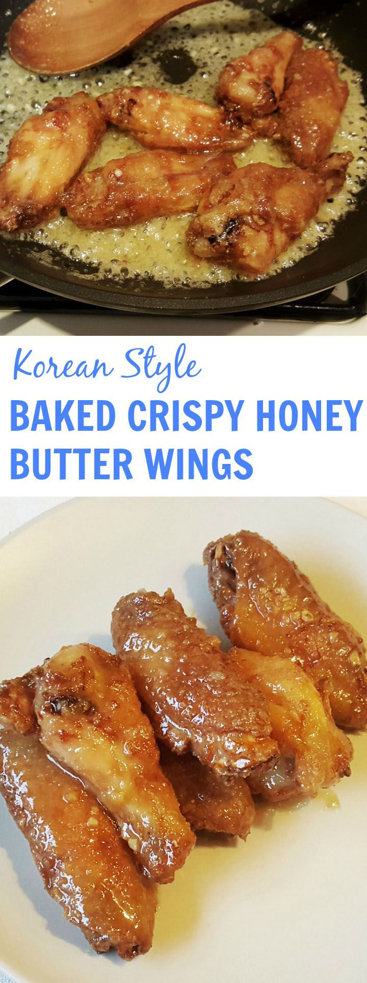 baked crispy honey butter wings