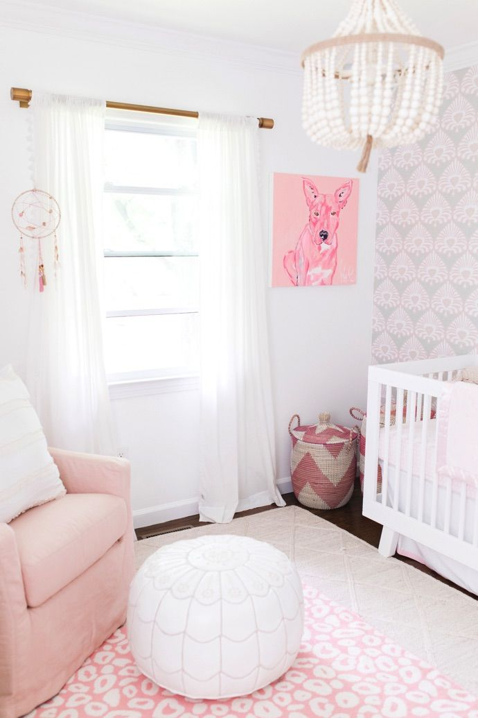 This Preppy Pink Nursery Is Every Little Girl's Dream | Image via Glitter Guide
