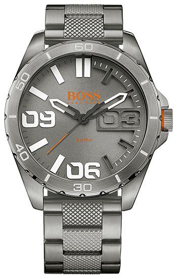 Montre Hugo Boss Orange Acier 1513289 Homme - Quartz - Analogique - Cadran et Bracelet en Acier Gris - Etanche 5 bar - Montre Allemande