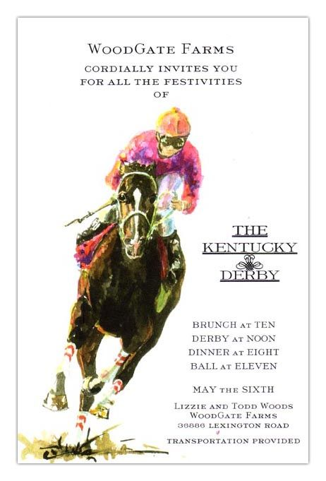 Turn horse racing invitations