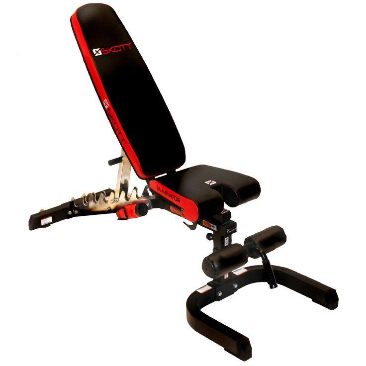 Skott Eliminator Adjustable Weight Lifting Fitness Bench