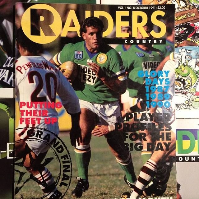 FLASHBACK: Canberra Raiders prop Brent Todd, 1991.