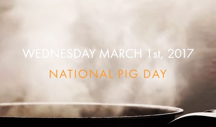 TODAY is 'NATIONAL PIG DAY' !!! We've been cooking this one up for a bit! Did you know it's #NationalPigDay?! Yeah it is!! To celebrate we're collaborating with a dozen + restaurants to bring you #heritage #pork centric menu items that translate directly to charitable donations to Piggy-Bank.org !! For more info please check out #PigDayOut online > j.mp/pdo2017
