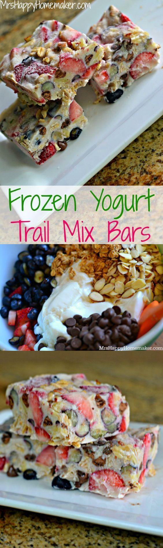 Frozen Yogurt Trail Mix Bars Healthy Recipes - food healthy recipes