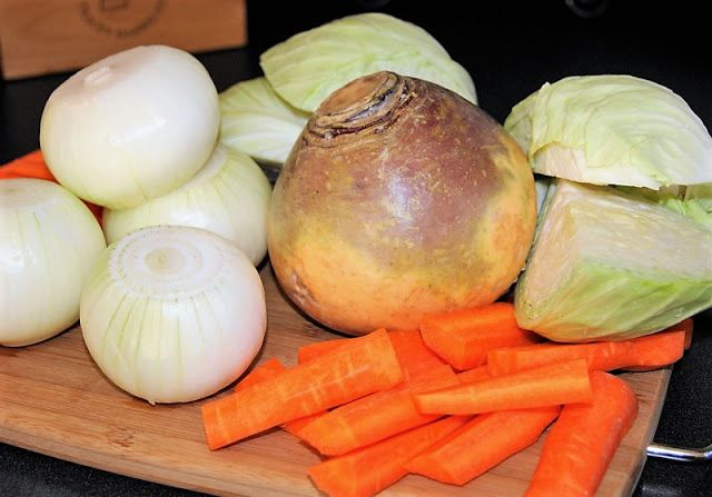 Vegetables for New England Boiled Dinner with Corned Beef image