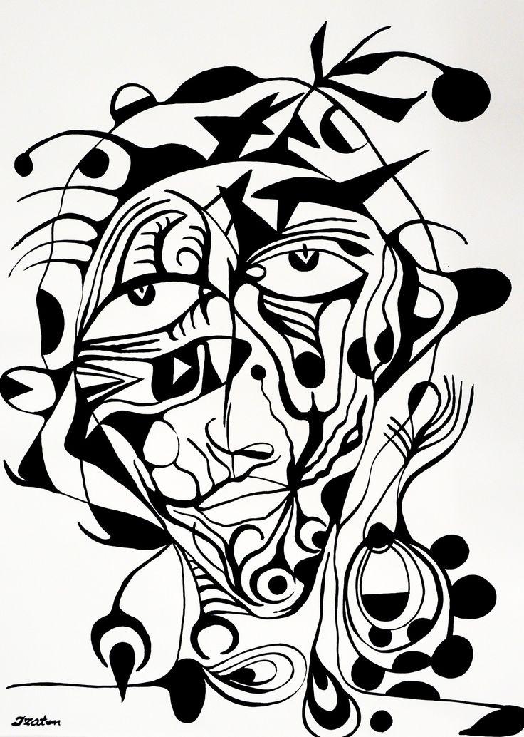Rafal Michal Szaton, Gala (2014)  #painting #art #artmarket #limitededition #artistoftheday #fineart #buyart  #popart #polishart #pinmorales #black&white