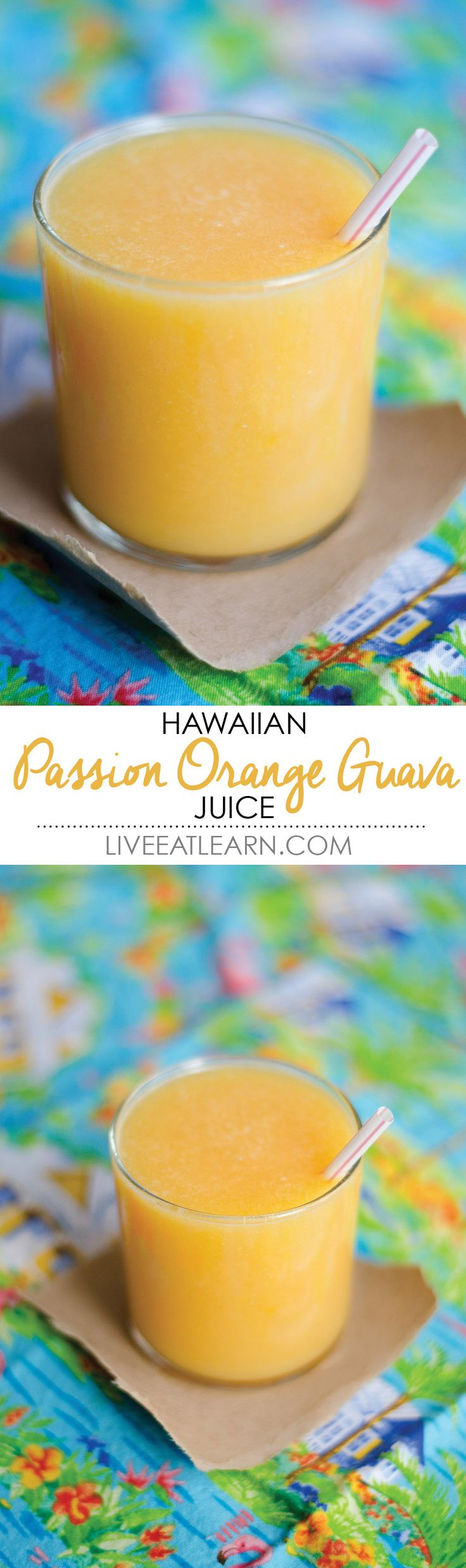 Hawaiian POG juice with passion fruit, oranges, and guava! // Live Eat Learn