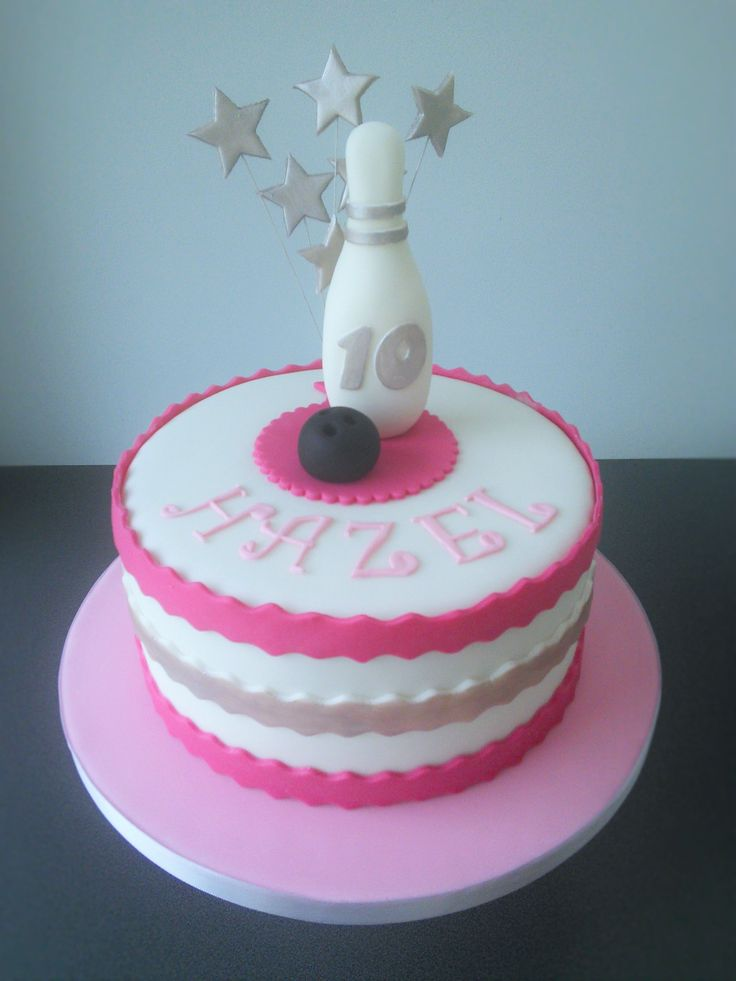 Best 25 Bowling Birthday Cakes Ideas On Pinterest