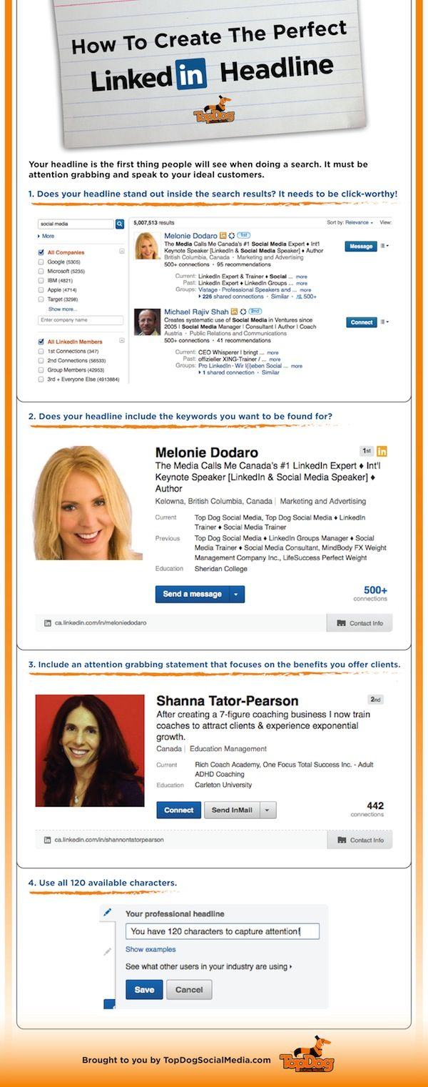 Great tips on creating a compelling LinkedIn headline #linkedin