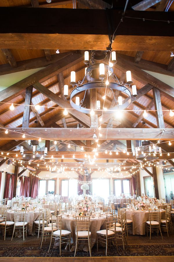 indoor wedding reception--I love the impact of this