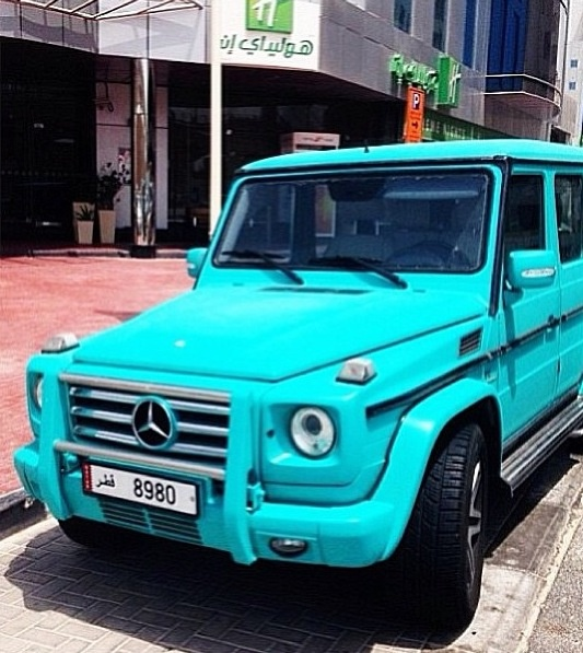 Mb g class light blue favorite cars accessories for Mercedes benz box suv