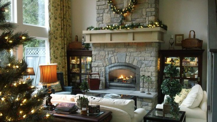 Lost Mountain Lodge In Sunny Sequim WA Has A Beautiful Stone Fireplace For An