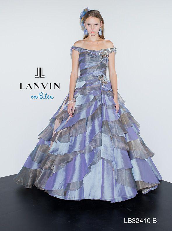 アクア・グラツィエがセレクトした、LANVIN EN BLEU(ランバン オン ブルー)のウェディングドレス、LB32410をご紹介いたします。