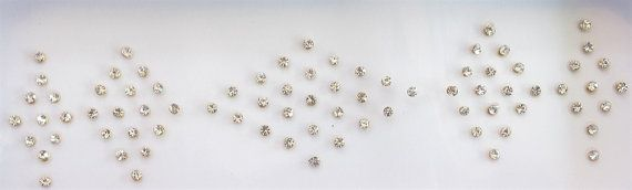 60 SPARKLY Stick On Fake Nose Studs/Golden Fake by Beauteshoppe