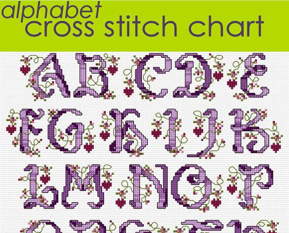 and Hearts Alphabet Sampler Cross Stitch Chart  Romantic Cross Stitch    Cross Stitch Font Generator