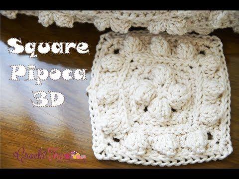 Square Pipoca 3D - Versão Destras - Professora Ivy (Crochê Tricô) - YouTube