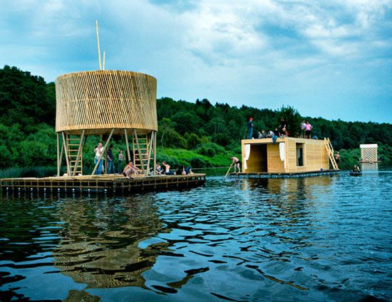 rintala eggertsson architects: kaluga floating sauna