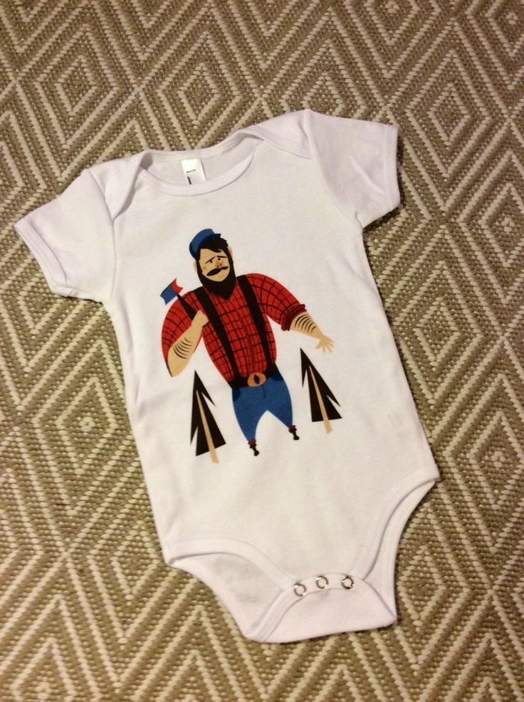Paul Bunyan Onesie by LFRillustration on Etsy https://www.etsy.com/listing/212793587/paul-bunyan-onesie