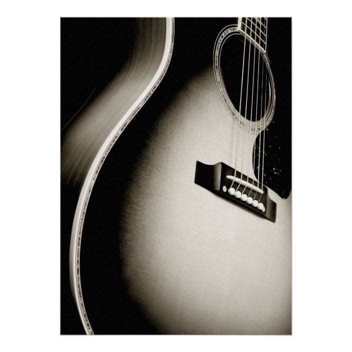 Acoustic Guitar Poster Zazzle Com Guitar Posters Acoustic Guitar Guitar Chords
