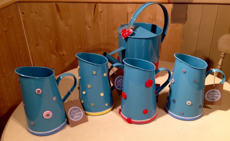 Joules jugs and watering can with a little bit of love from Vintage Revamp x