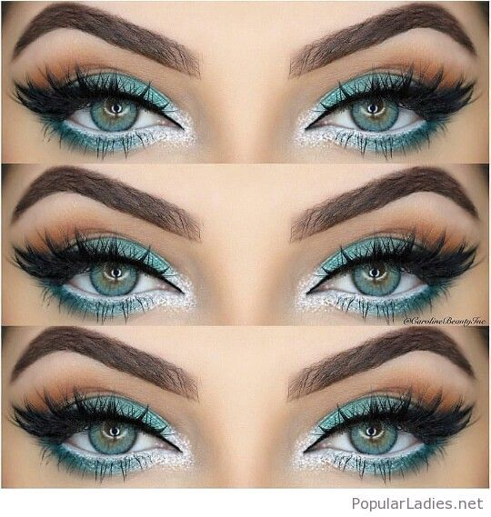 Amazing blue winter eye makeup