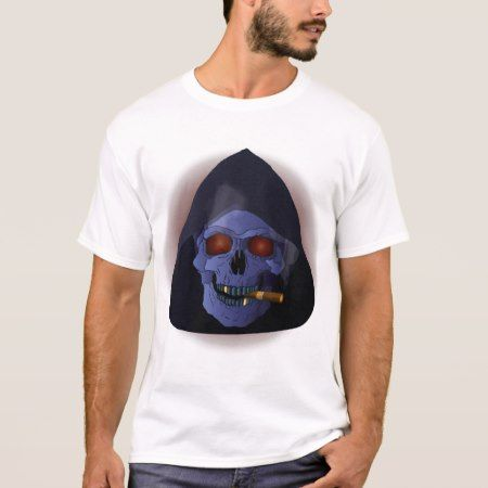 Smoking skull with cigar T-Shirt - tap, personalize, buy right now!