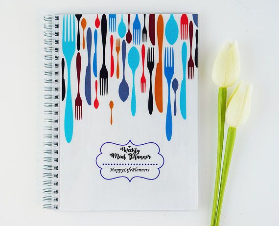 Weekly Meal Planner Personalized Planner gift for him her