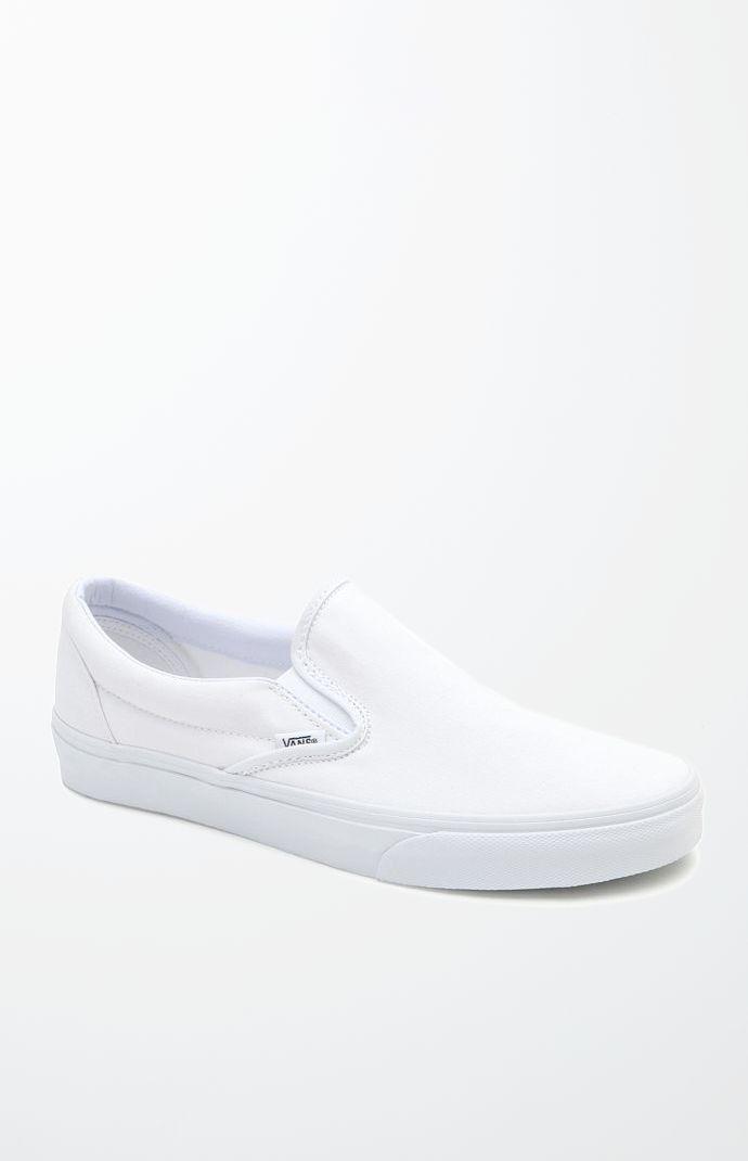 white slip on vans size 4.5