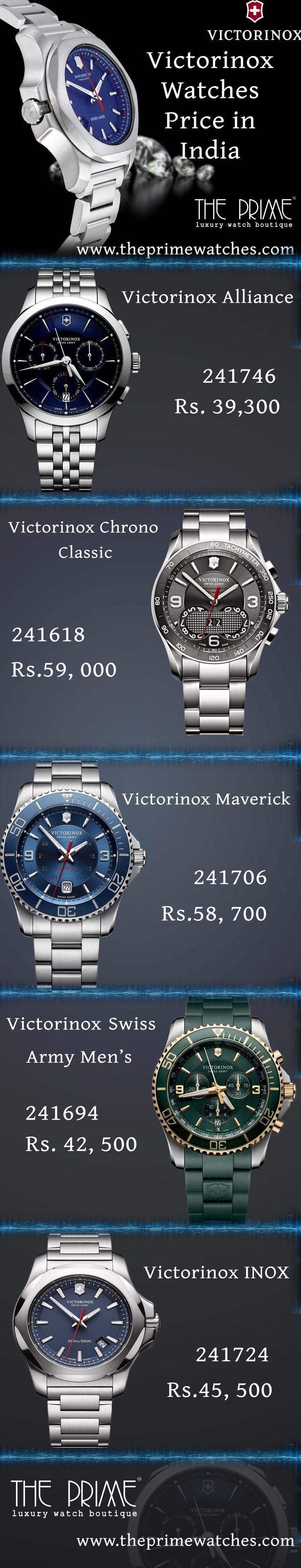 Victorinox watches are one of the popular ones among the Indian people for their cutting-edge designs and good looks. Some mind-blowing pieces from the brand with their price are given below.