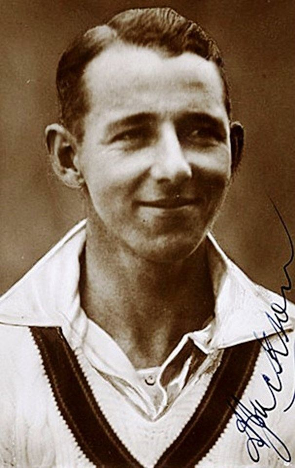 """130-Archibald """"Archie"""" Jackson played 8 Tests as a specialist batsman between 1929 and 1931. A teenage prodigy, he debuted against England In 1929 at age 19 scoring 164 runs in the first innings to become the youngest player to score a Test century. Renowned for his elegant style similar to Victor Trumper, and Alan Kippax, his Test and first-class career coincided with the early playing years of Don Bradman with whom he was often compared.  However, he developed Tuberculosis and died age 23."""