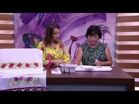 Mulher.com - 09/02/2016 - Pintura em toalha - Julia Passerani PT 2 - YouTube
