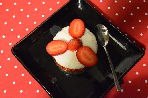 Kolorowy deser z kaszą gryczaną