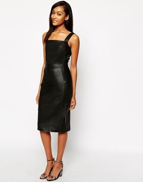 Enlarge Warehouse Leather Bodycon Dress
