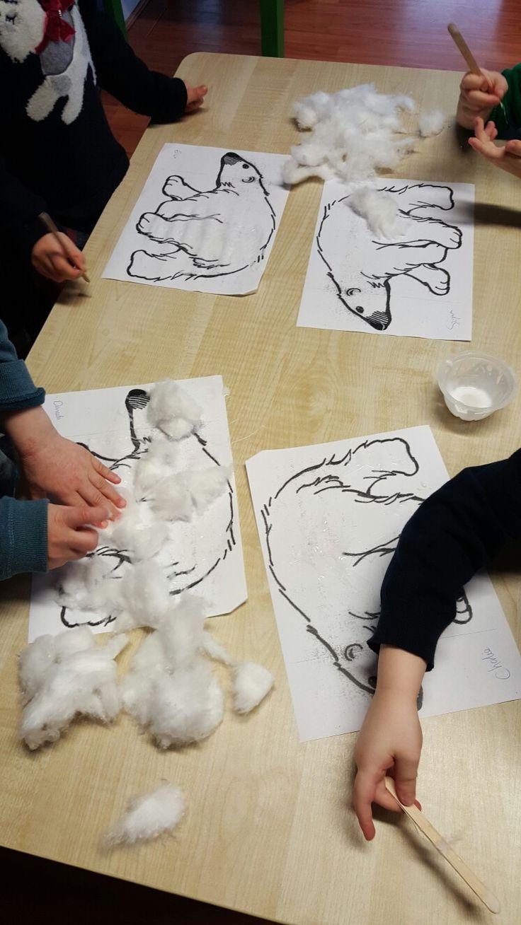 Cotton wool polar bear