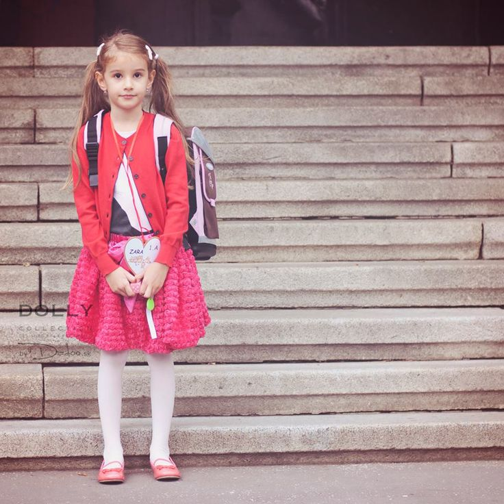 Rosette dolly skirt and the first day at school.