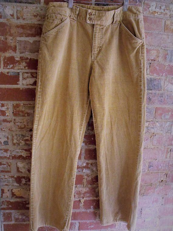 Corduroy Jeans/ Size 12 Tan Cord Jeans/ Retro Corduroy