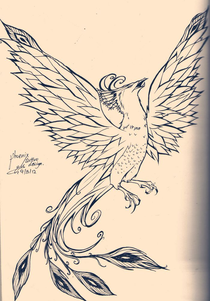 traditional phoenix tattoo designs | Phoenix tattoo design by SleepDera
