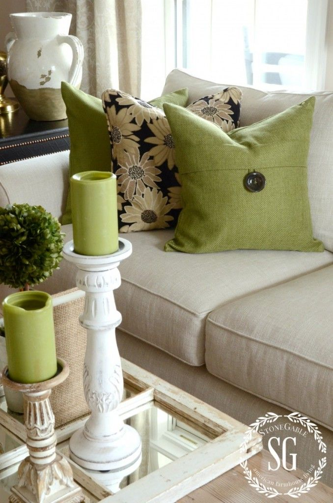 HOW TO BUILD A PILLOW COLLECTION LIKE PRO Couch PillowsAccent Pillows Green