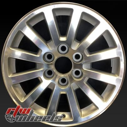 "Chevy Yukon wheels for sale 2008-2009. 18"" Machined rims 5355 - http://www.rtwwheels.com/store/shop/18-chevy-yukon-wheels-oem-machined-silver-5355/"