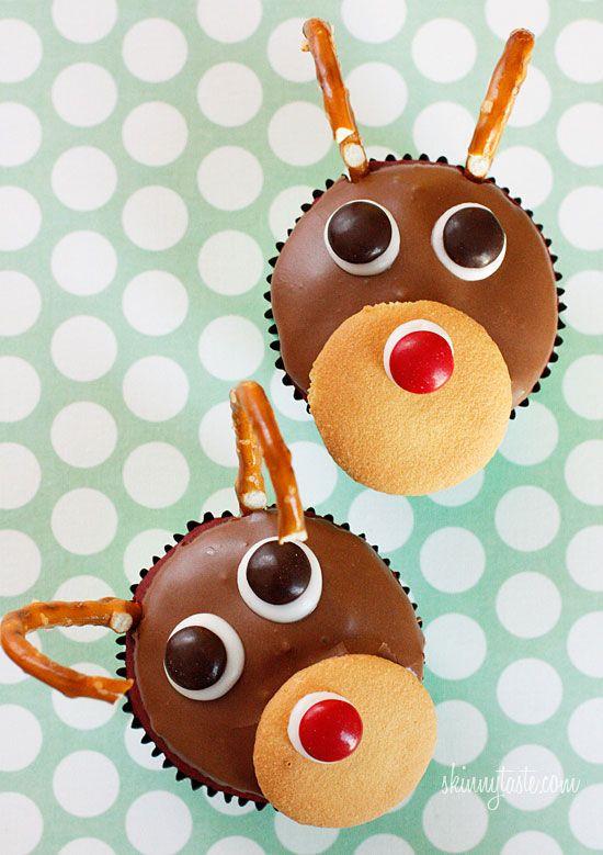 Rudolph the Red Velvet Cupcake   Skinnytaste