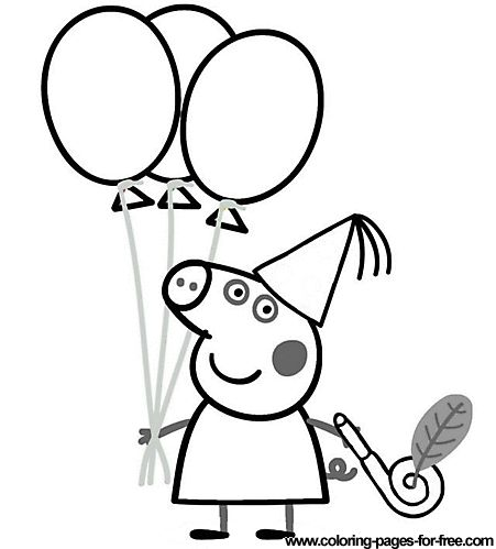 Peppa Pig coloring pages drawing