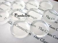 25 мм ясно увеличительное стекло кабошоны, плоские круглые камея настройки, 4.5 мм ( диапазон : 4 ~ 5 мм ) толщиной  8,60-1 шт мин 20шт