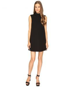 McQ High Neck Dress (Darkest Black) Women's Dress