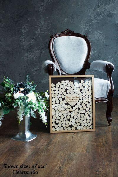 Hochzeitsgästebuch - Hochzeit Gästebuch, Holz Gästebuch - ein Designerstück von WoodenEngravedShop bei DaWanda