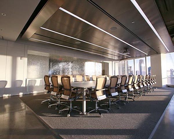 Modern Conference Table White Conference Room Interior