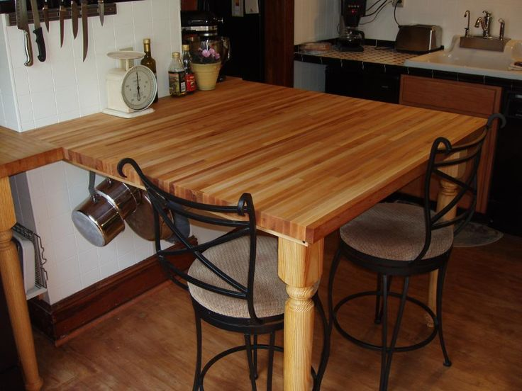 Fascinating Butcher Block Table How To Make Also Butcher Block Table How To  A Butcher Block Table Island Can Increase The Beauty Of Your Kitchen  Kitchen ...