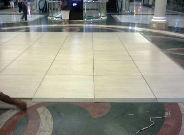 a Pearl Teak (off-white) Connecta-Floor at Century City mall, Cape Town