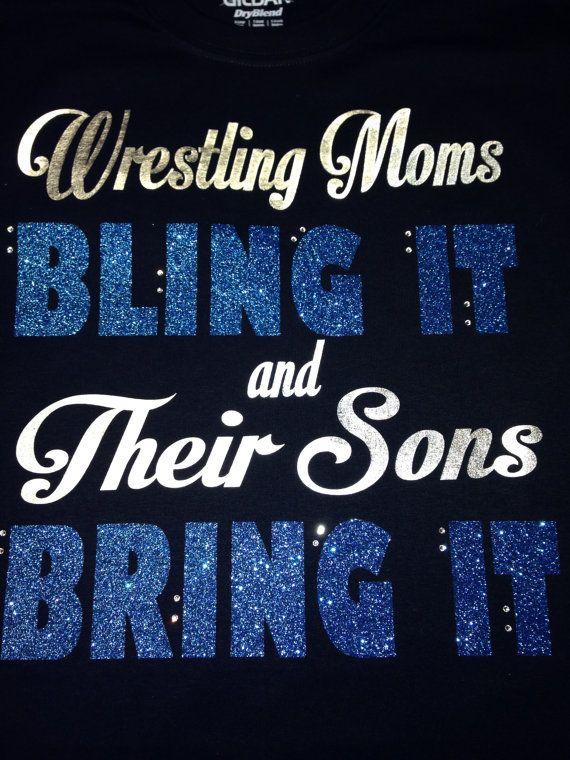 Custom Wrestling Short Sleeve Tshirt by BlingItOn72058 on Etsy, $25.00